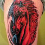 Татуировка лошадь