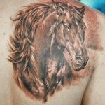 Татуировка конь