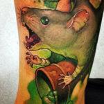 Татуировка крыса зомби