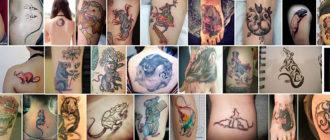 Различные варианты тату с крысой