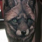 Татуировка лисы чернобурки