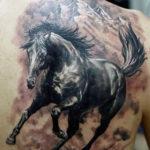 Тату лошадь на лопатке