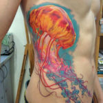 Тату медузы на парня