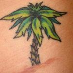 Тату маленькой пальмы