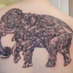 Тату слона из животных