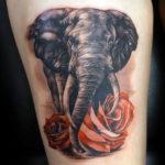 Слон с розами