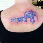 Тату слона и слонят