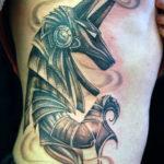 Татуировка Анубиса, бога смерти