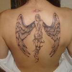 Женские татуировки смерти в виде ангела