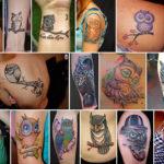 Варианты татуировок с совой