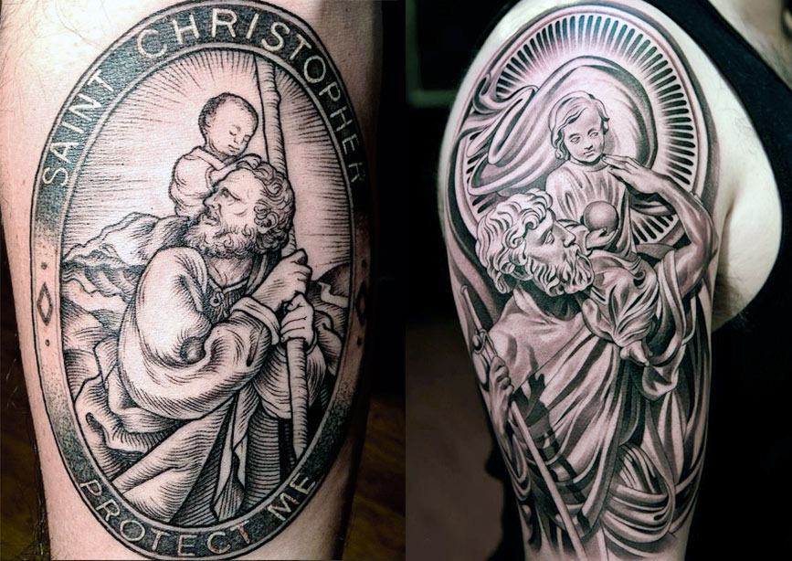 Тату святого Христофора