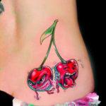 Татуировка вишни мультяшные