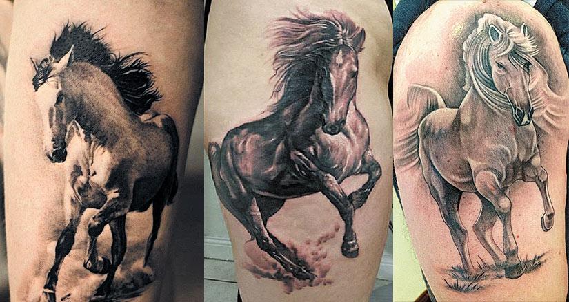 Тату дикой лошади