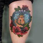 Татуировка мышь