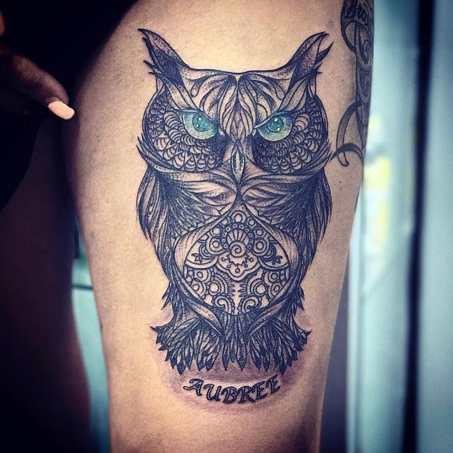 Картинки татуировка сова