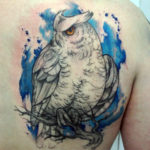 Татуировка с белой совой