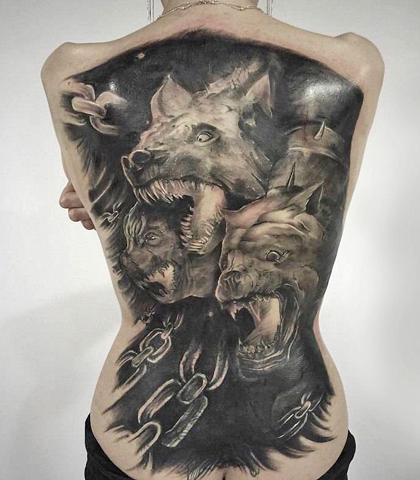 Татуировка три головы цербера