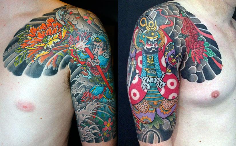 Татуировки у парней в традиционном японском стиле