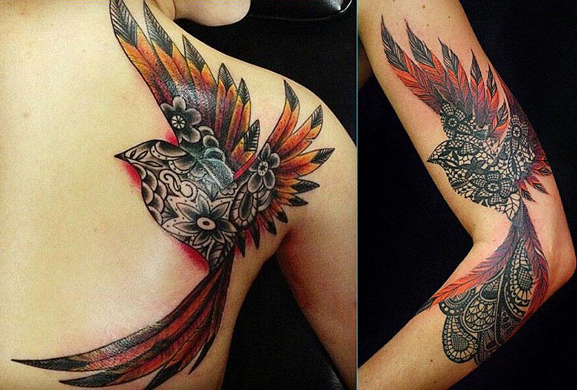 Татуировки феникс