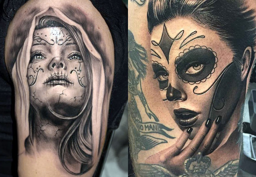 Татуировки Санта Муэрте