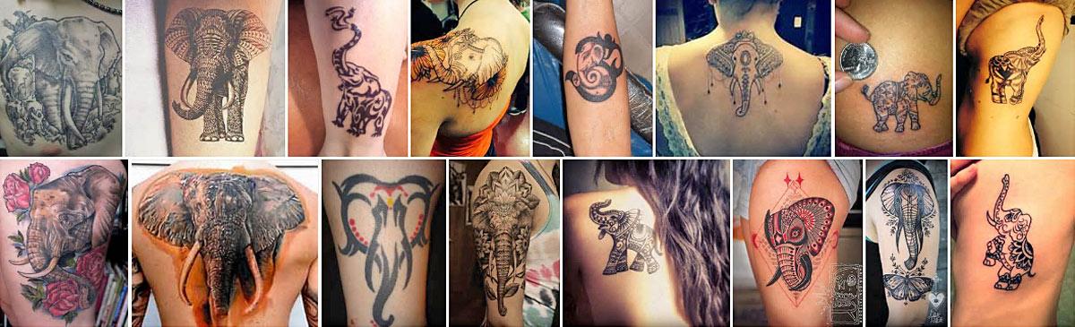 Различные татуировки на теле