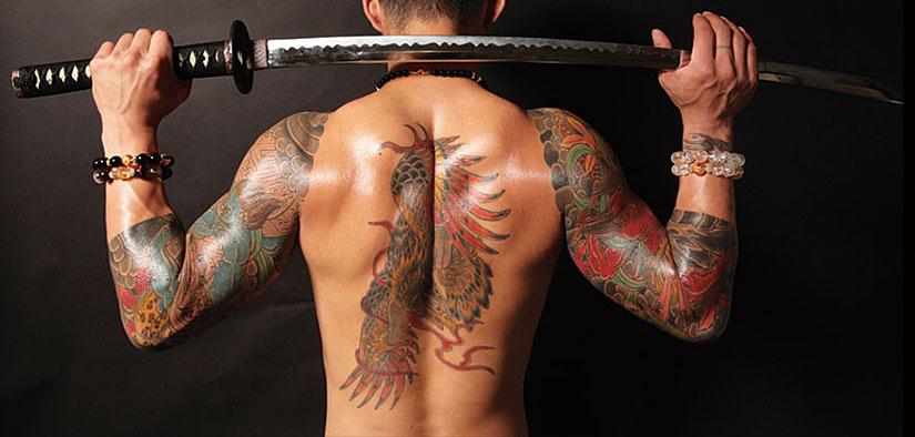 Татуировки у якудза