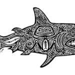 Эскиз тату акулы