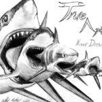 Эскиз тату акулы поедающую акулу