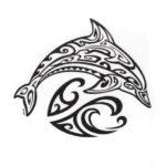 Красивый эскиз тату дельфина, подойдет как парню так и девушке
