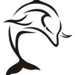 Лаконичный и красивый эскиз дельфина