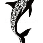 Женский эскиз тау дельфина