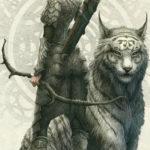 Эскиз тату эльфа, с тигром