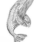 Эскиз тату кит