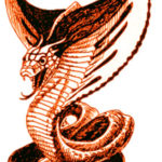 Эскиз тату кобра с капюшоном