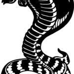 Эскиз тату кобра, ч/б