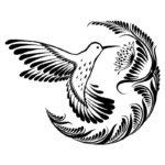 Эскиз тату колибри вектор