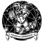 Эскиз татуировки космонавта