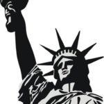 Эскиз тату статуи свободы, черно-белый