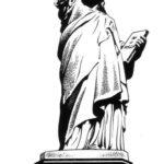 Эскиз тату статуи свободы в полный рост