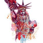 Абстрактный эскиз статуи свободы