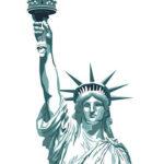 Эскиз тату статуи свободы в анфас
