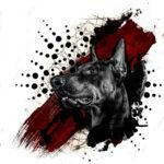 Эскиз треш полька с собакой