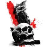 Треш полька череп и вороны