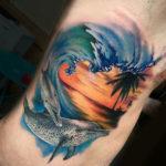 Татуировка дельфинов