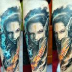 Татуировка с эльфийкой