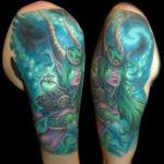 Татуировка эльфа на руке