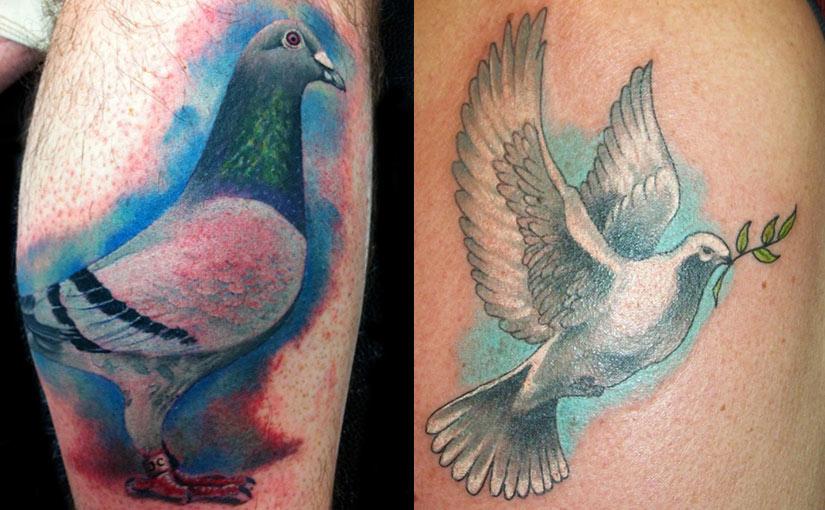 Татуировка голубя
