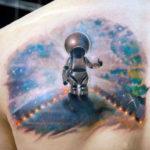 Тату робота космонавта