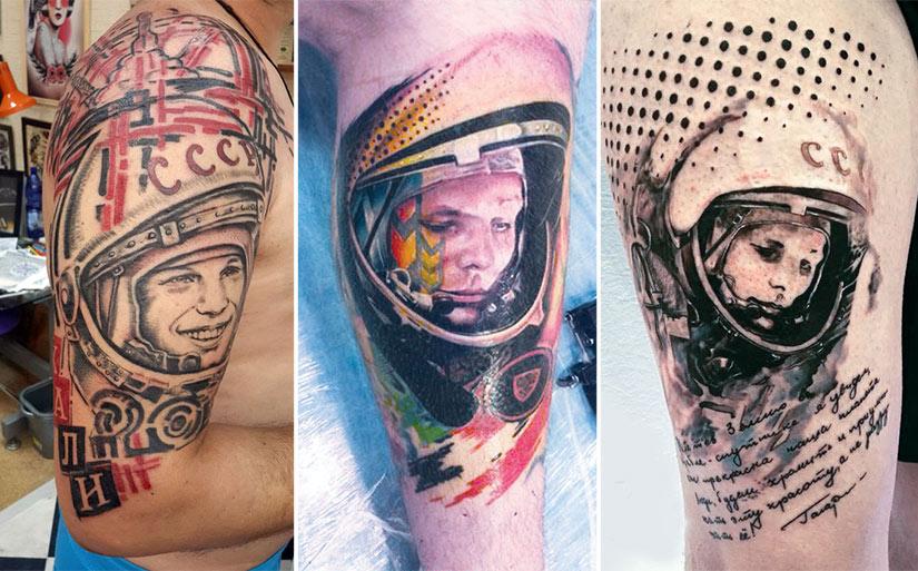 Тату космонавт треш полька