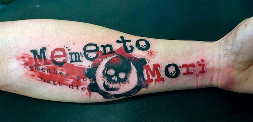 Татуировка треш полька memento mori